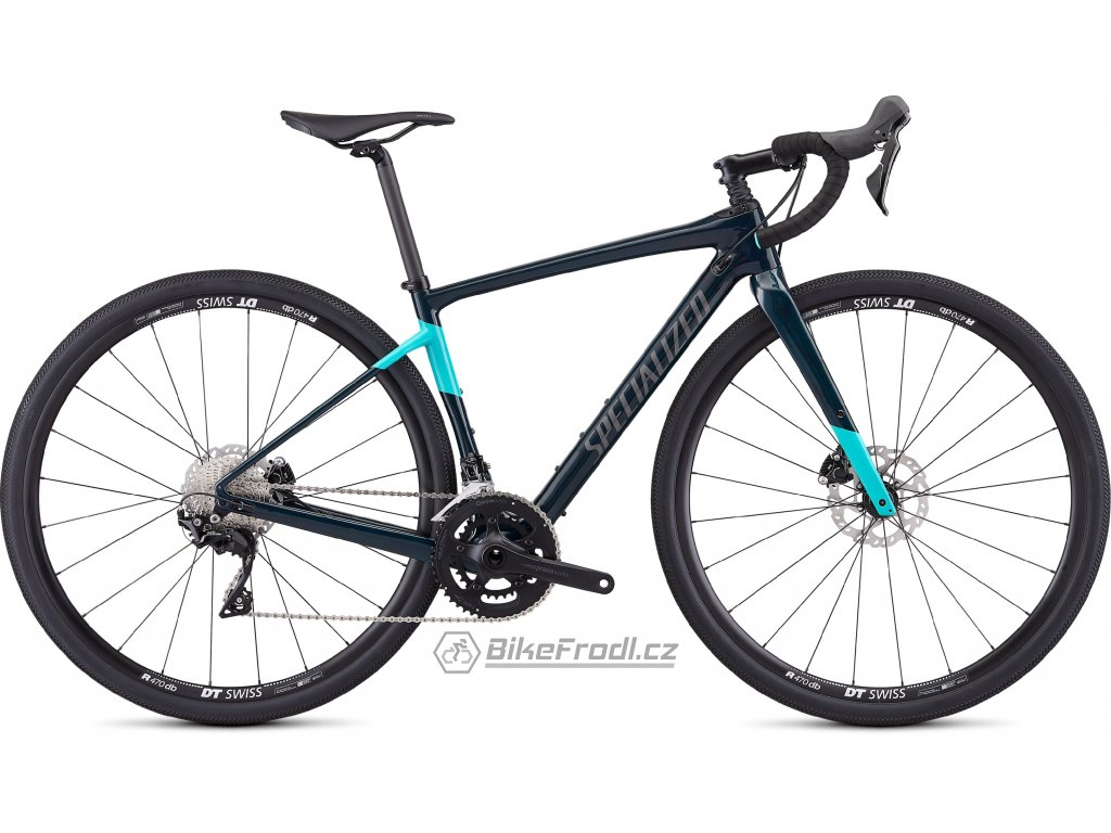 SPECIALIZED Women's Diverge Sport Gloss Teal Tint/Acid Mint/Black, vel. 52 cm