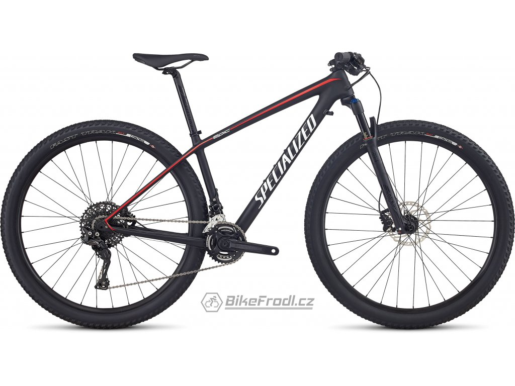 SPECIALIZED Women's Epic HT Comp Carbon Tarmac Black/Nordic Red/White Metallic Silver, vel. S