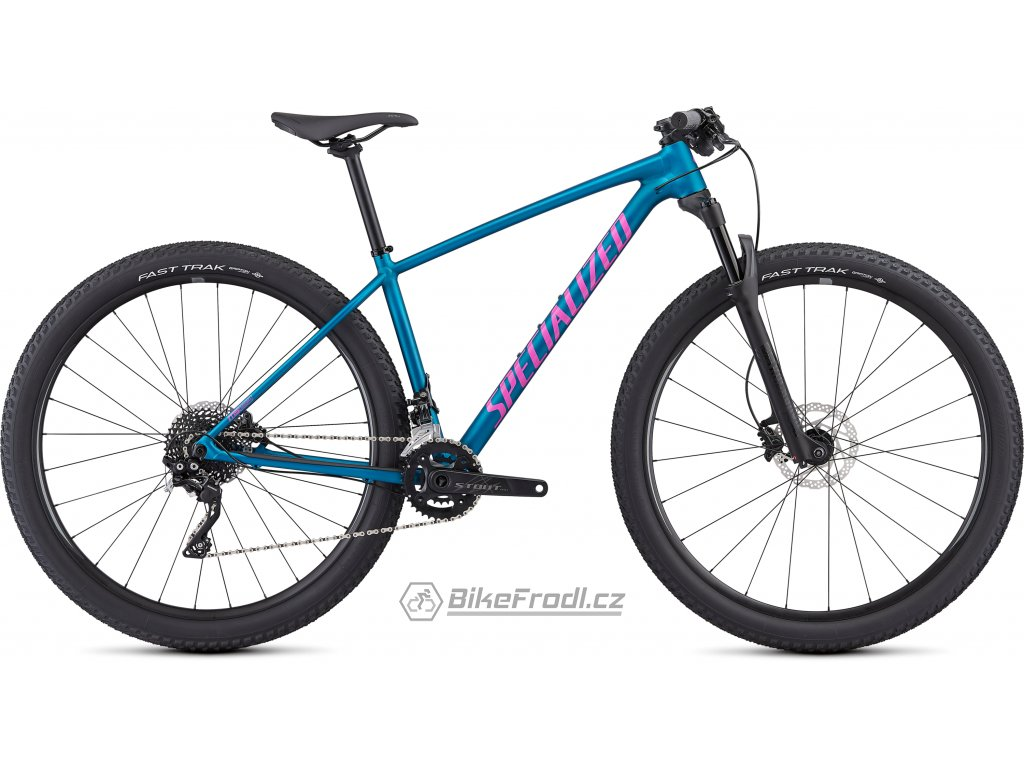 SPECIALIZED Women's Chisel Comp Satin Gloss Marine Blue/Acid Purple, vel. XS