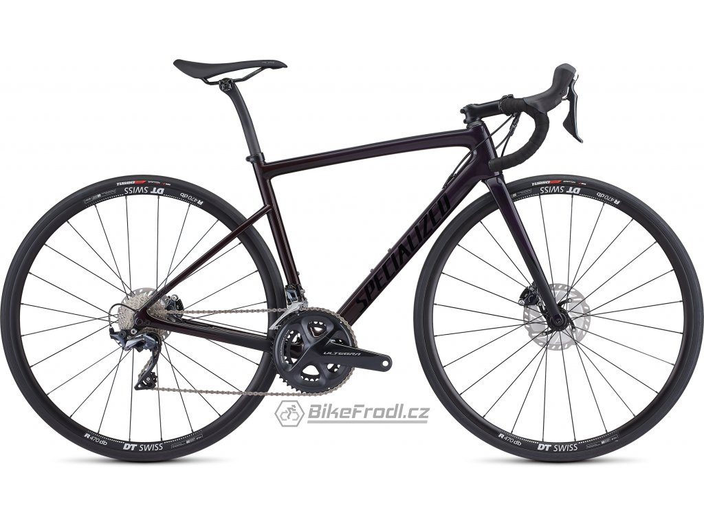 SPECIALIZED Women's Tarmac Disc Comp Gloss Purple Tint - Red Fade/Satin Black, vel. 49 cm