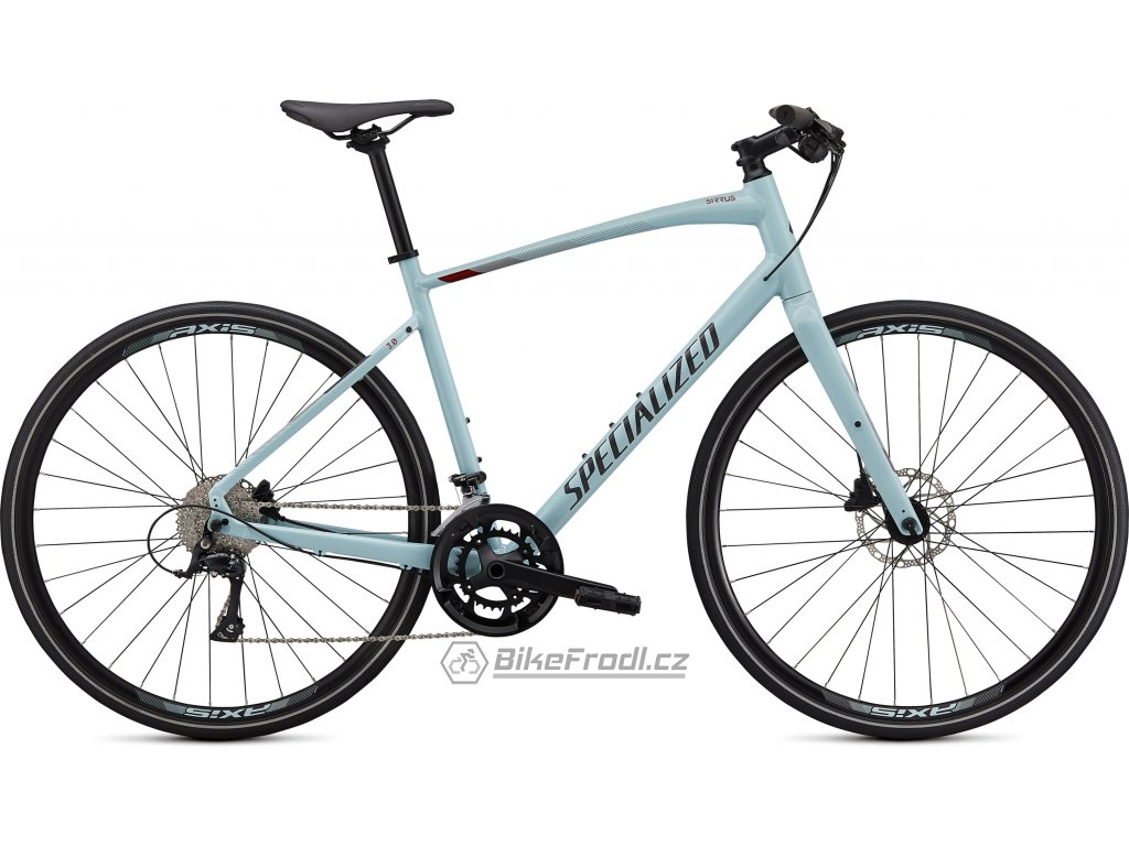SPECIALIZED Sirrus 3.0, Gloss Summer Blue/Metallic Crimson/Black Reflective, vel. S