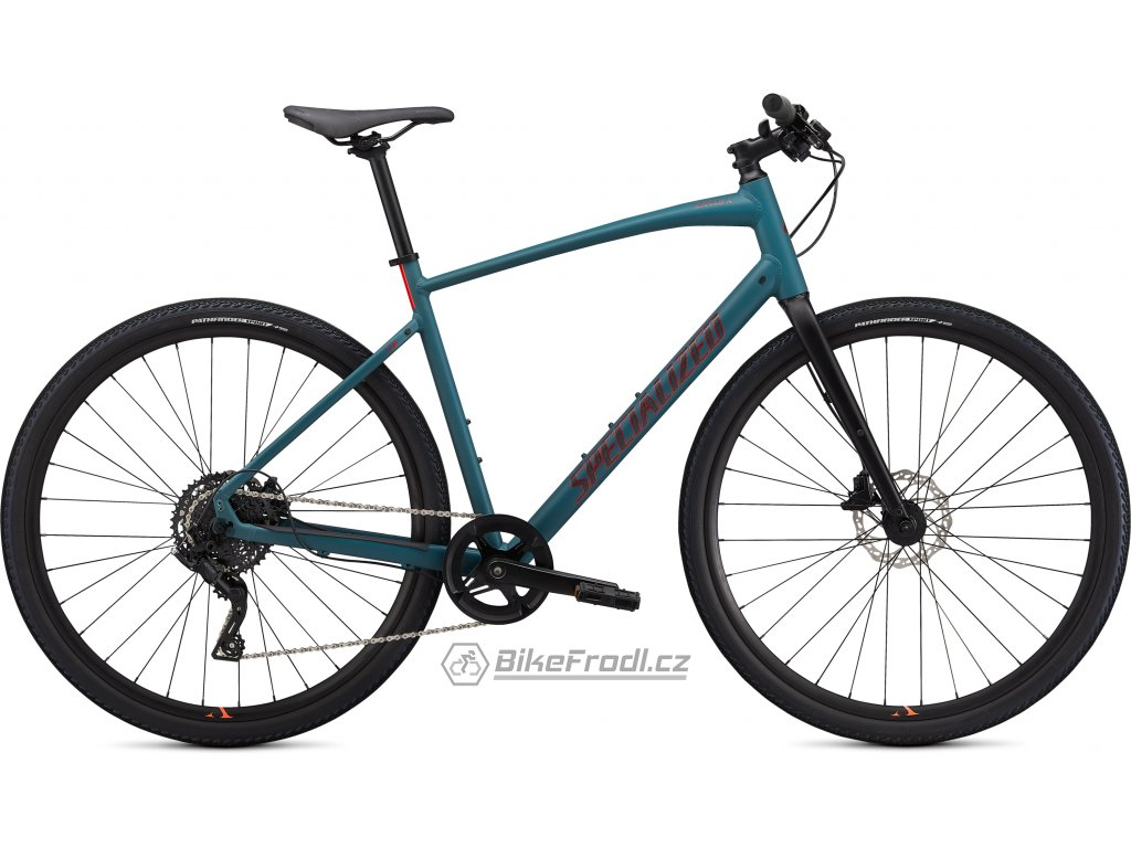 SPECIALIZED Sirrus X 2.0, Dusty Turquoise/Black/Rocket Red, vel. L