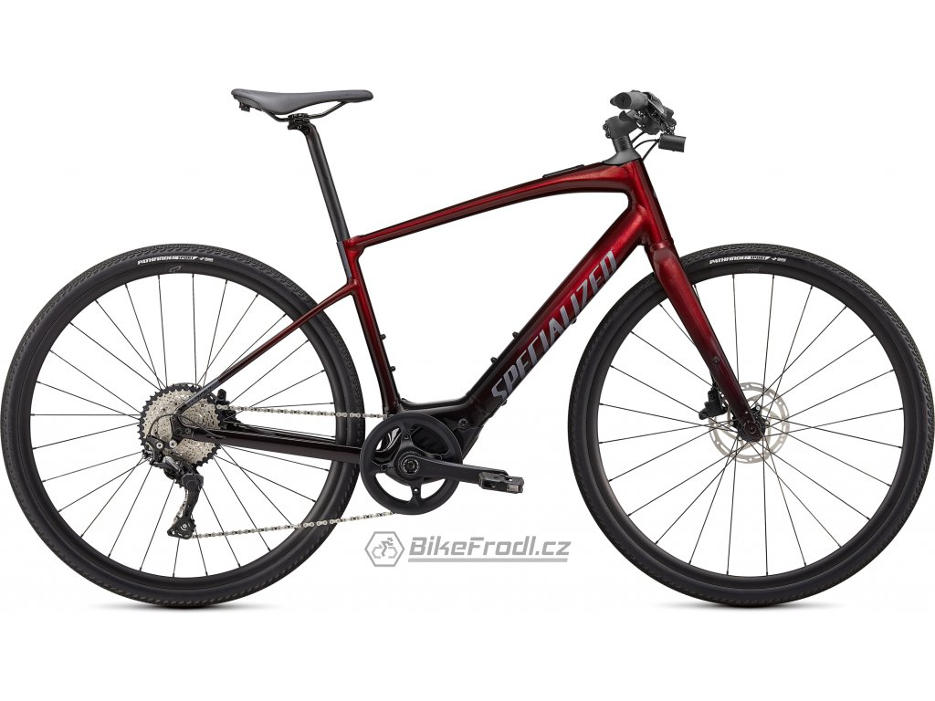 SPECIALIZED Turbo Vado SL 4.0, Crimson Red Tint/Black Reflective, vel. S