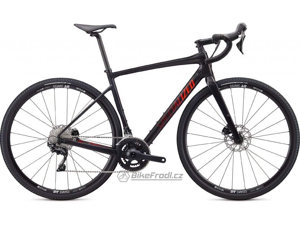 SPECIALIZED Diverge Sport, Gloss Carbon/Rocket Red-Crimson Camo, vel. 54 cm