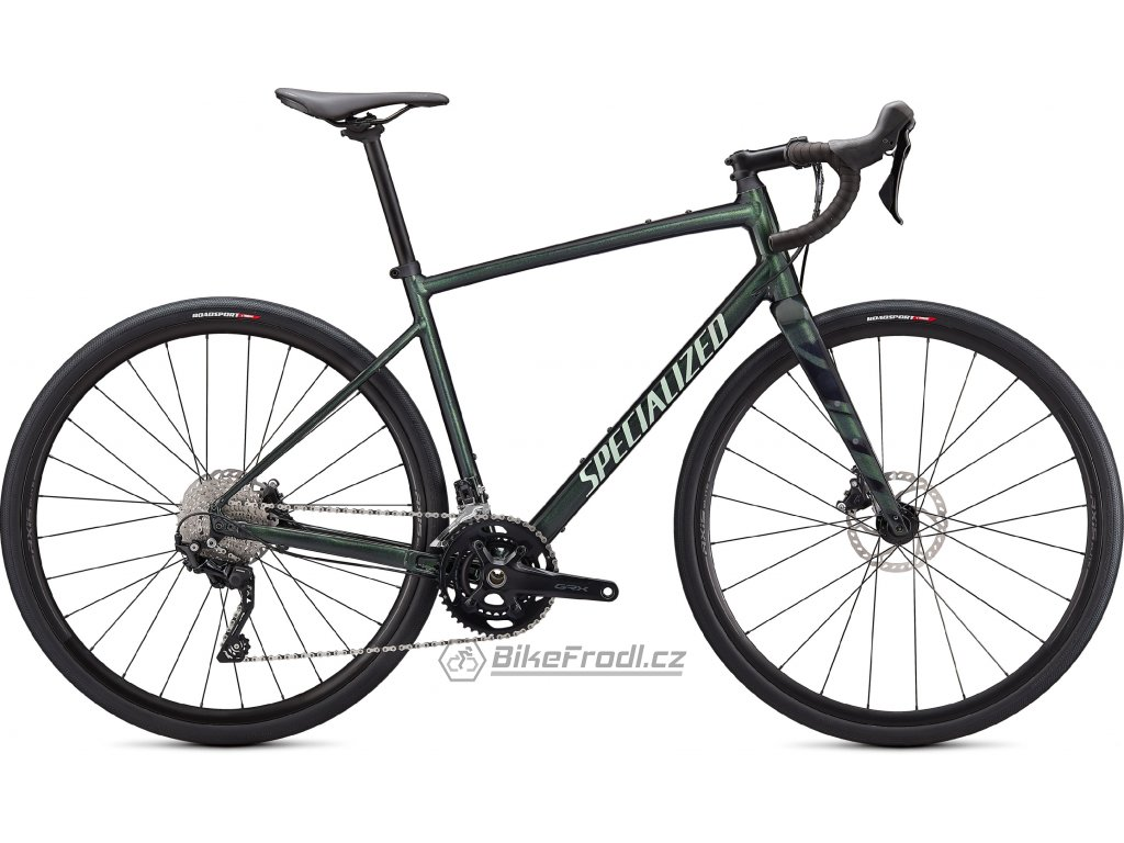 SPECIALIZED Diverge Elite E5, Gloss Oak Metallic Green/Spruce/Chrome/Wild Ferns, vel. 61 cm