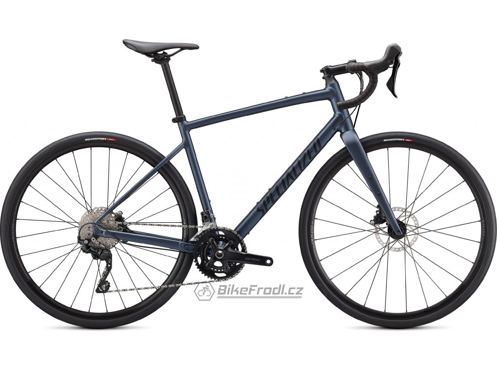 SPECIALIZED Diverge Elite E5, Satin Cast Blue Metallic/Ice Blue/Chrome/Clean, vel. 52 cm