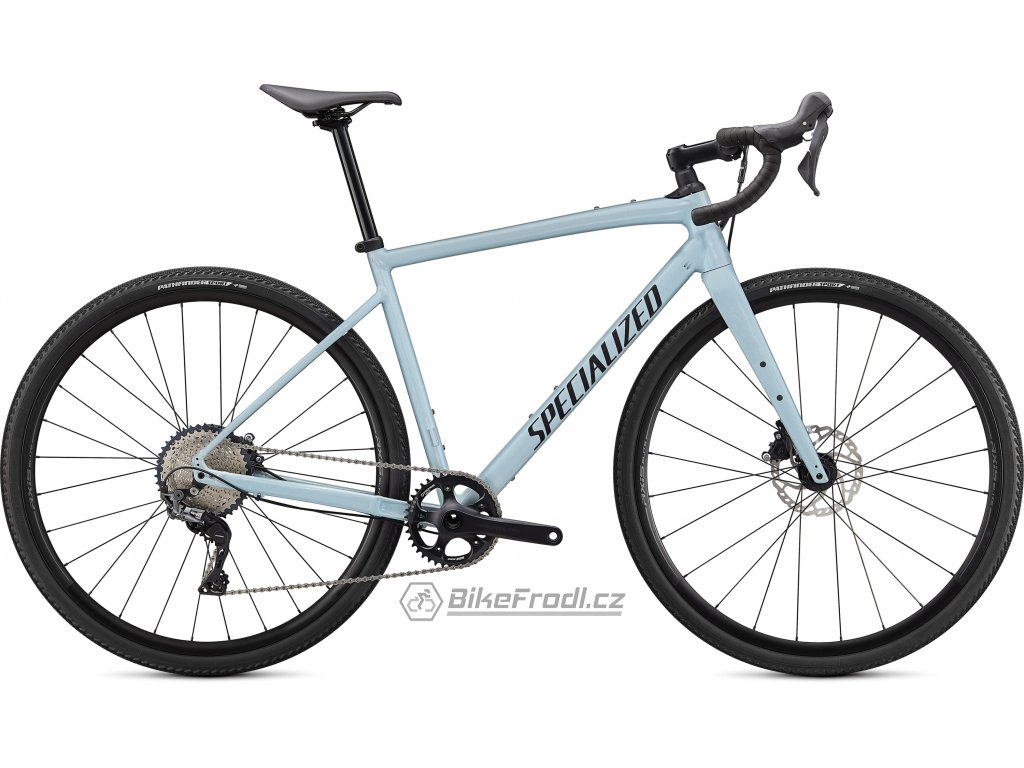 SPECIALIZED Diverge Comp E5, Gloss Ice Blue/Smoke/Chrome/Clean, vel. 52 cm