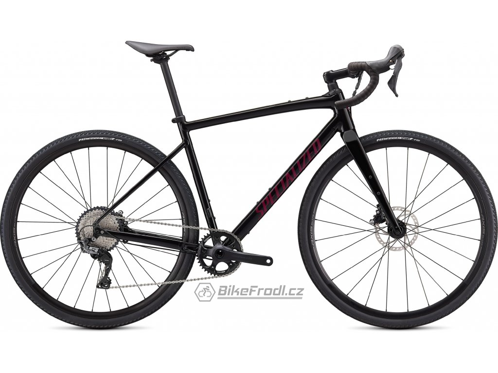 SPECIALIZED Diverge Comp E5, Gloss Tarmac Black/Satin Maroon/Chrome/Clean, vel. 64 cm