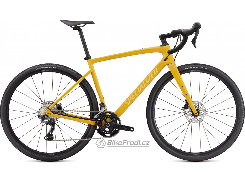 SPECIALIZED Diverge Sport Carbon, Gloss Brassy Yellow/Sunset Yellow/Chrome/Clean, vel. 54 cm