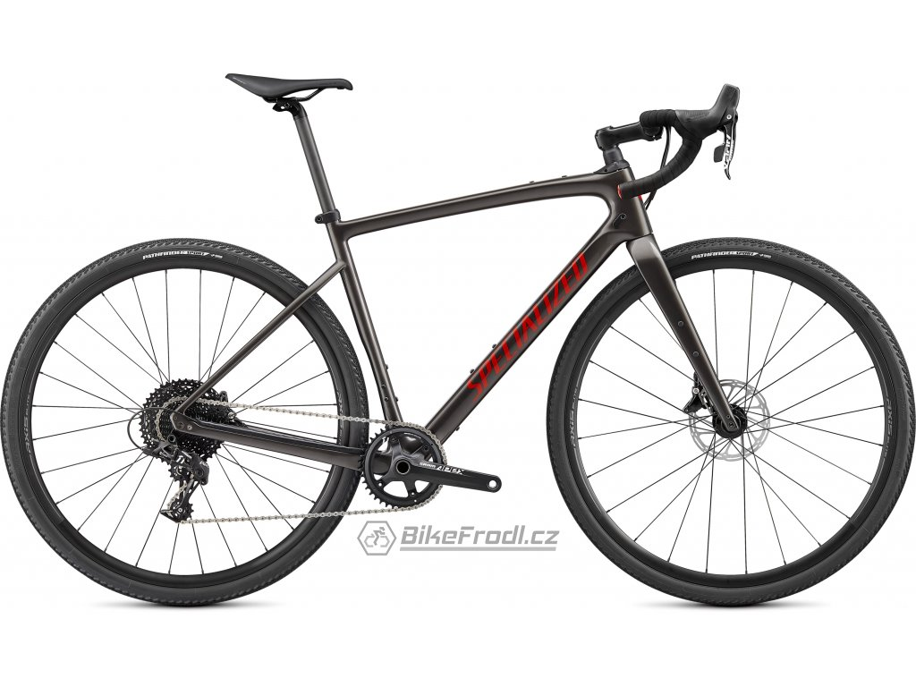 SPECIALIZED Diverge Base Carbon, Gloss Smoke/Redwood/Chrome/Clean, vel. 61 cm