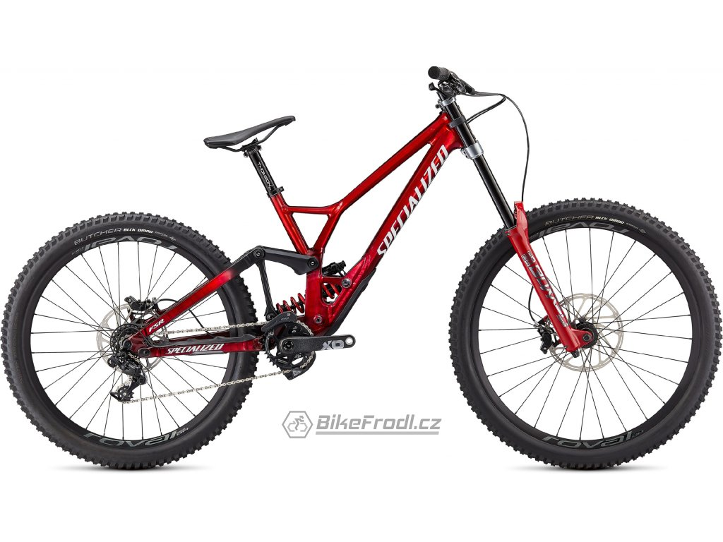 SPECIALIZED Demo Race, Gloss Brushed / Red Tint / White, vel. S4