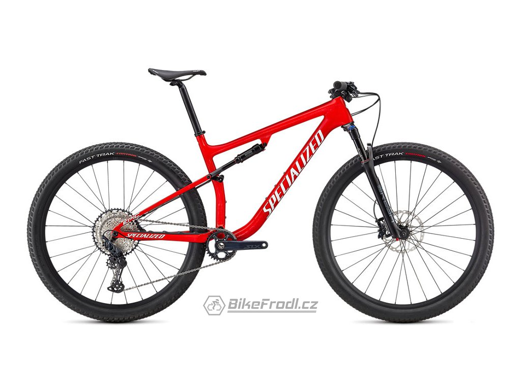 SPECIALIZED Epic Comp, Gloss Flo Red W/ Red Ghost Pearl/Metallic White Silver, vel. XS