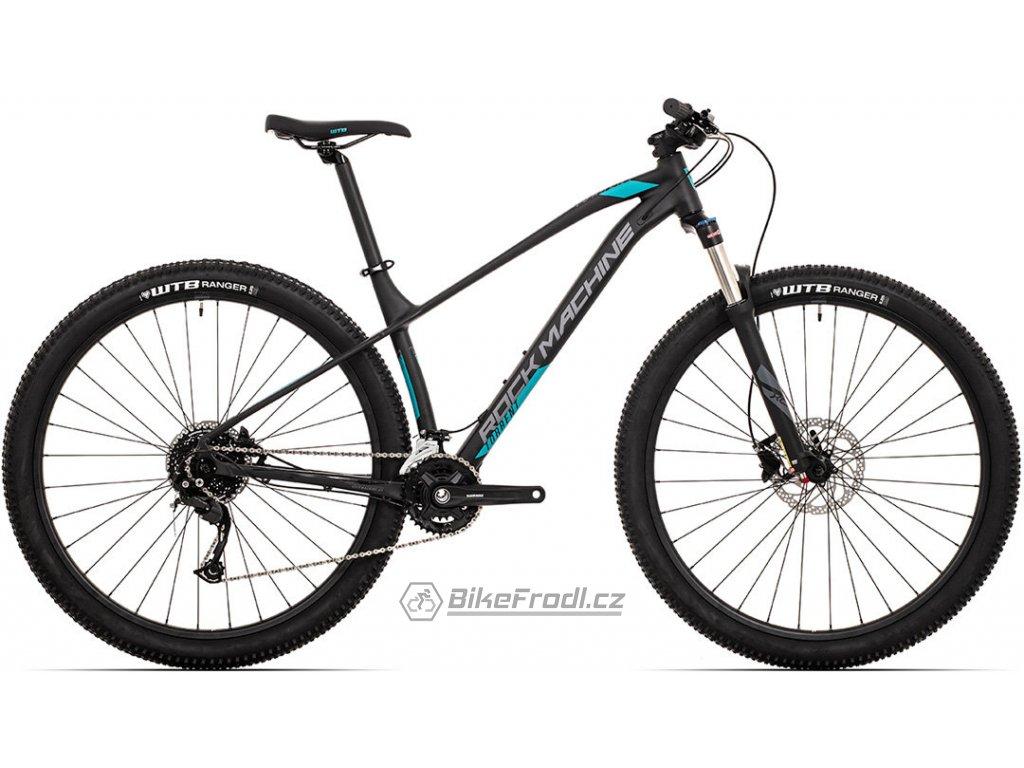 ROCK MACHINE Torrent 30-29 mat black/dark grey/petrol blue, vel. M