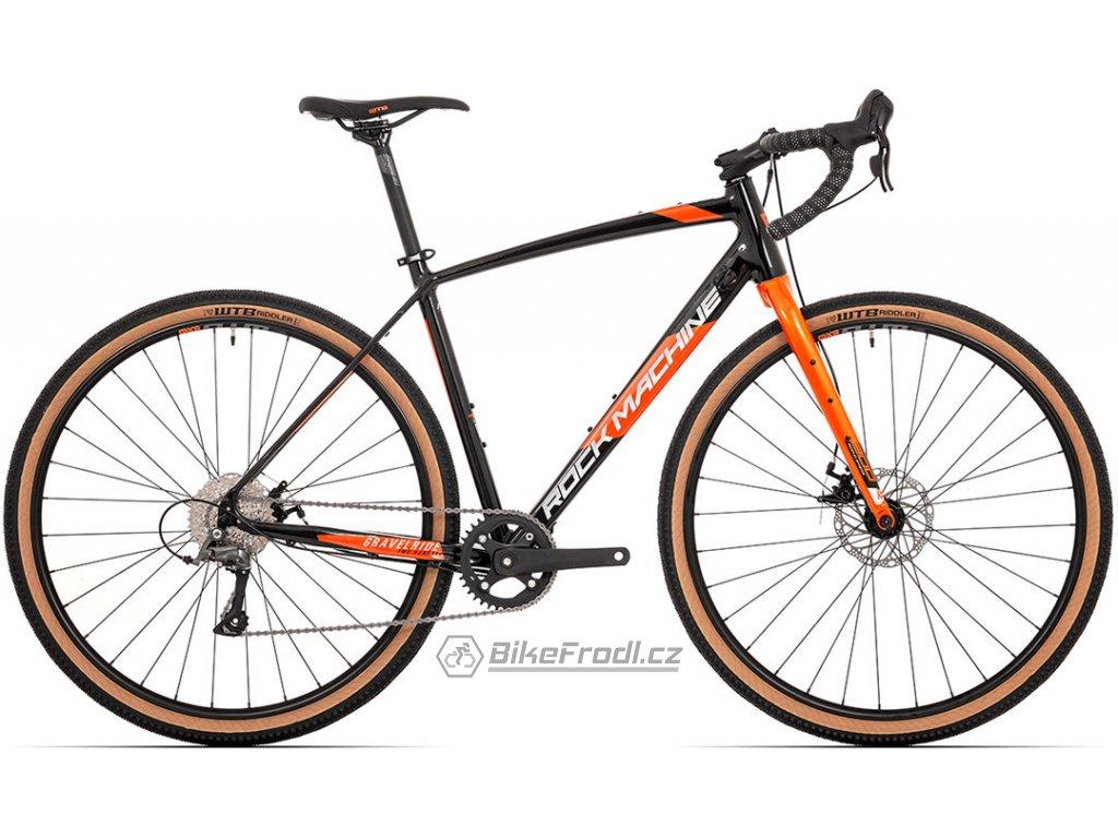 ROCK MACHINE GravelRide 200 gloss black/brick orange/silver, vel. XL  PŘEDOBJEDNÁVKA