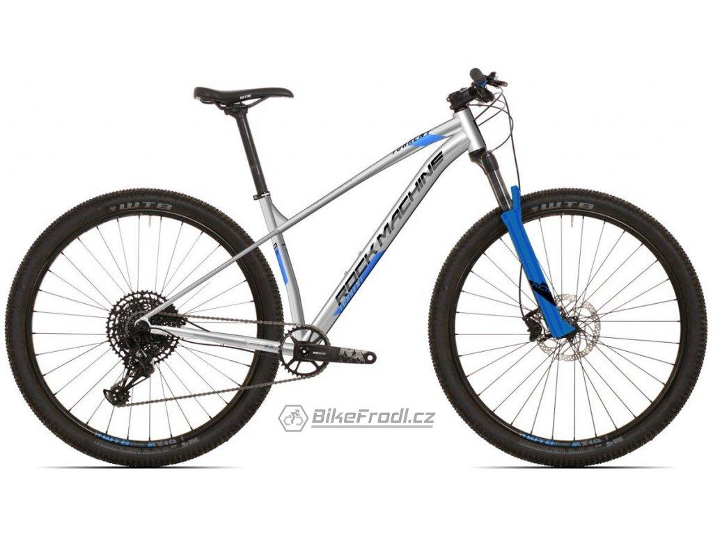 ROCK MACHINE Torrent 70-29 gloss silver/blue/black, vel. XL  PŘEDOBJEDNÁVKA