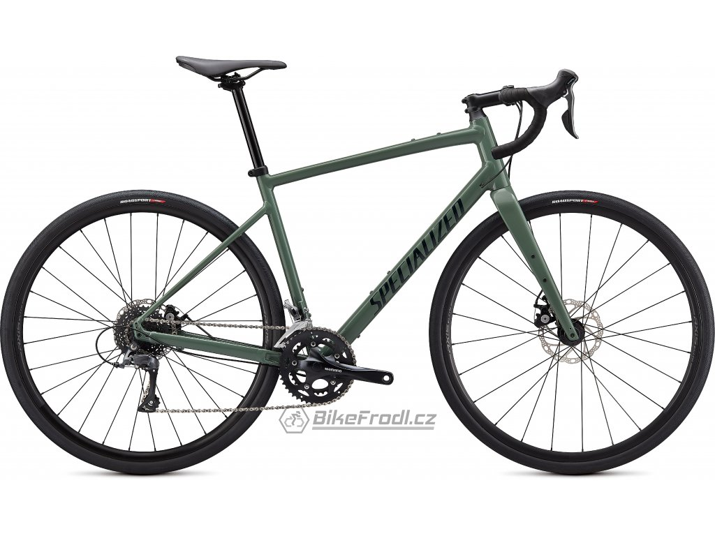 SPECIALIZED Diverge Base E5 Gloss Sage Green/Forest Green/Chrome/Clean, vel. 58 cm