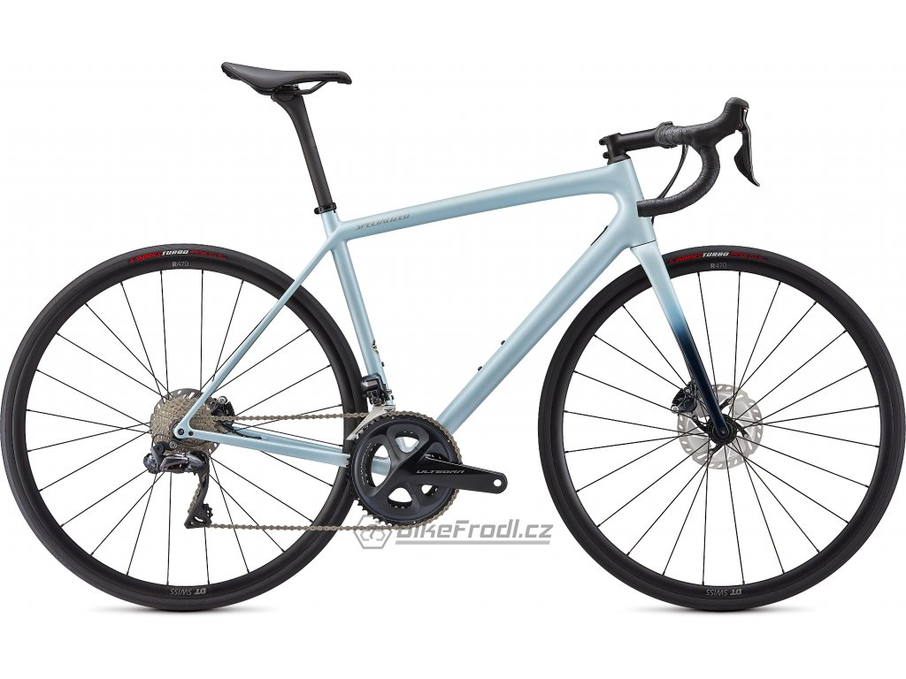 SPECIALIZED Aethos Expert Gloss Ice Blue/Teal Tint/Flake Silver, vel. 58 cm