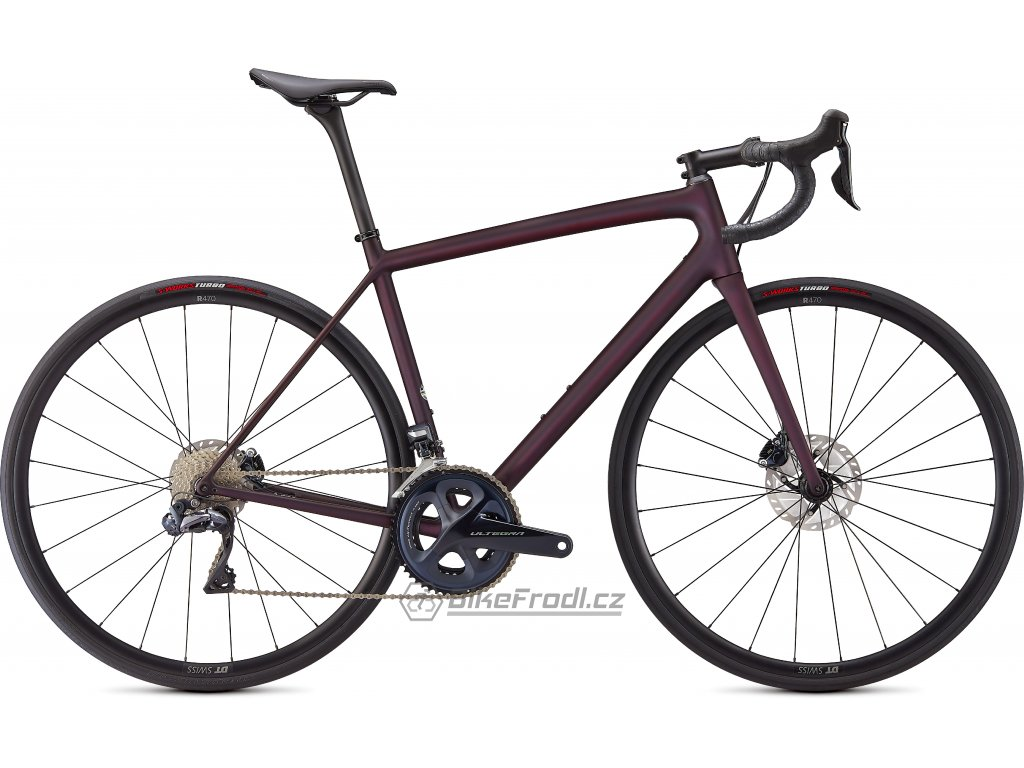 SPECIALIZED Aethos Expert Satin Red Tint/Dream Silver, vel. 49 cm