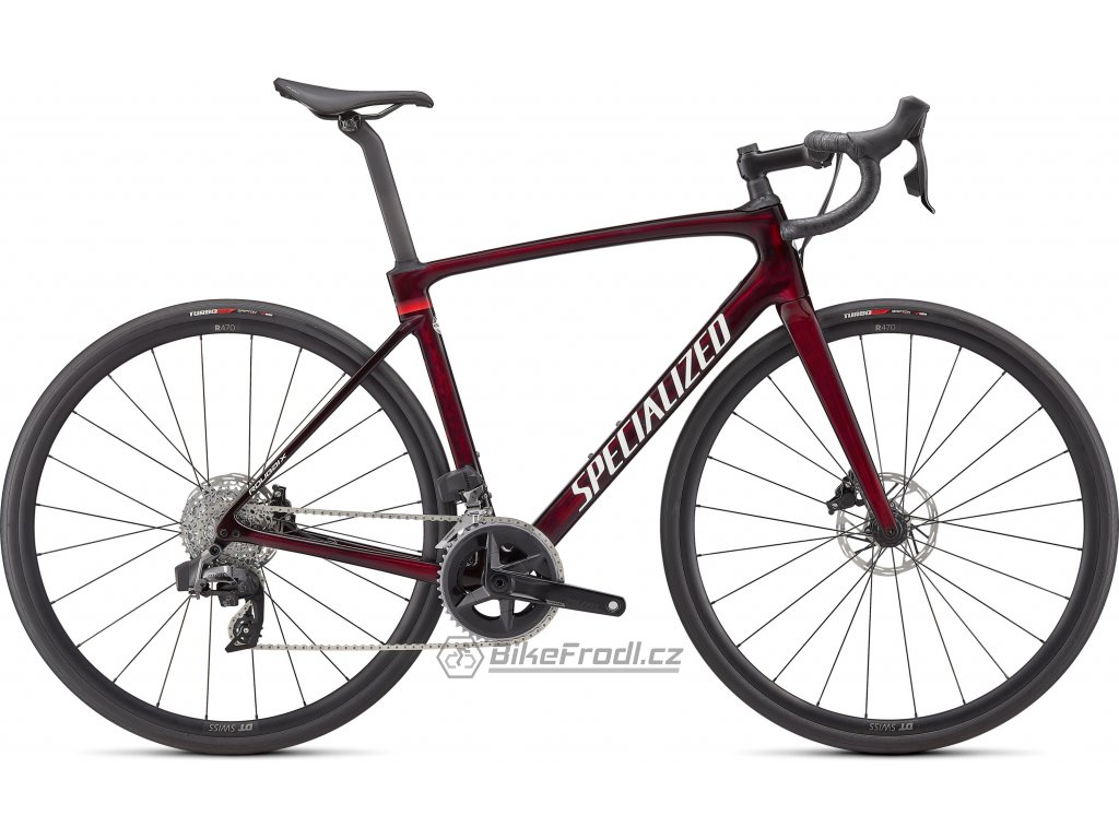 SPECIALIZED Roubaix Comp - SRAM Rival eTap AXS Gloss Red Tint Carbon Metallic White Silver, vel. 49