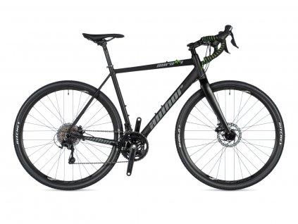 AUTHOR Aura XR4 černá-matná/zelená, vel. 52 cm