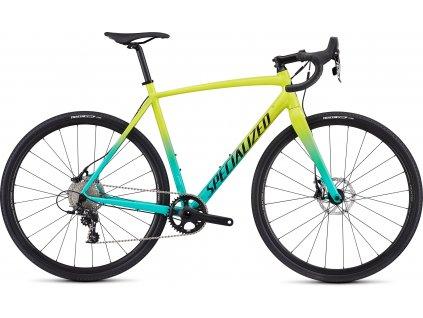 SPECIALIZED CruX E5 Sport Gloss Team Yellow/Acid Mint/Tarmac Black/Clean, vel. 54 cm