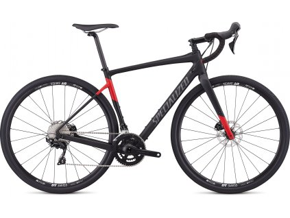 SPECIALIZED Men's Diverge Sport Satin Tarmac Black/Flo Red, vel. 48 cm