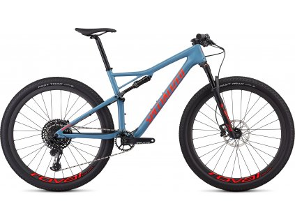 SPECIALIZED Men's Epic Expert Gloss Storm Grey/Rocket Red, vel. M