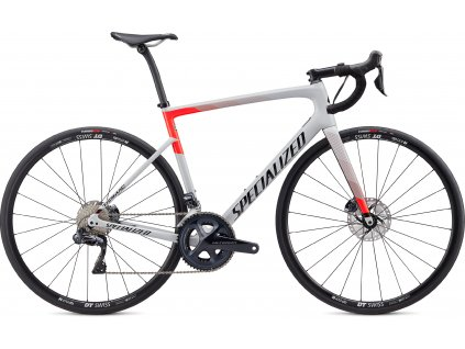 SPECIALIZED Tarmac Disc Comp Ultegra Di2 Gloss Dove Grey/Rocket Red/Tarmac Black, vel. 49 cm