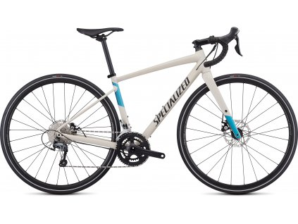 SPECIALIZED Women's Diverge E5 Elite Satin White Mountains/Tropical Teal-Nice Blue/Black, vel. 44 cm