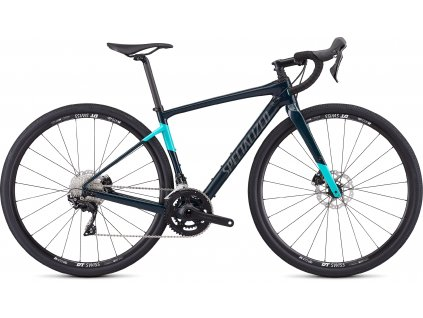 SPECIALIZED Women's Diverge Sport Gloss Teal Tint/Acid Mint/Black, vel. 54 cm