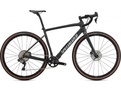 SPECIALIZED Diverge Expert Carbon, Satin Oak Green Metallic/Gloss White/Chrome/Clean, vel. 54 cm