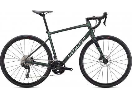SPECIALIZED Diverge Elite E5, Gloss Oak Metallic Green/Spruce/Chrome/Wild Ferns, vel. 54 cm