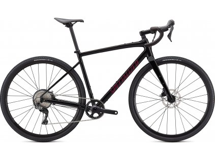 SPECIALIZED Diverge Comp E5, Gloss Tarmac Black/Satin Maroon/Chrome/Clean, vel. 52 cm