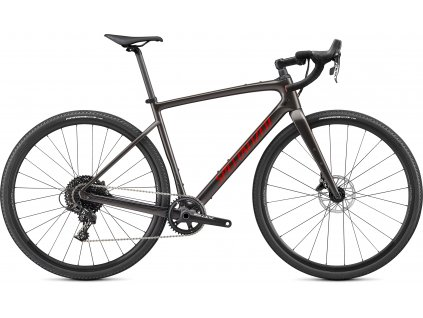 SPECIALIZED Diverge Base Carbon, Gloss Smoke/Redwood/Chrome/Clean, vel. 54 cm