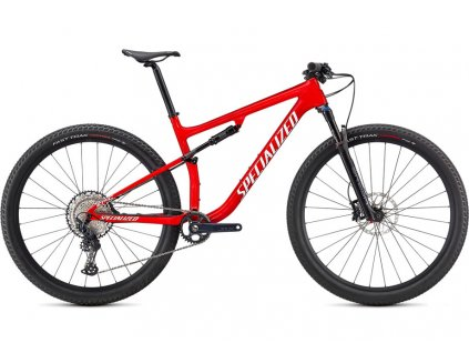 SPECIALIZED Epic Comp, Gloss Flo Red W/ Red Ghost Pearl/Metallic White Silver, vel. L