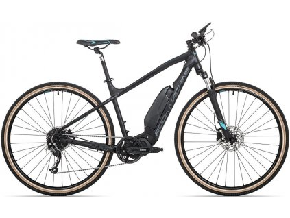 ROCK MACHINE CrossRide e400 mat black/petrol blue/dark grey, vel. L