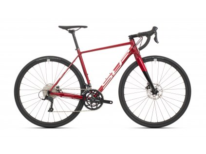SUPERIOR X-ROAD Comp Gloss Dark Red/Chrome/Black, vel. 54cm(M)