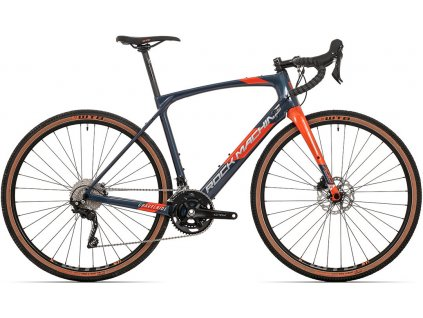 ROCK MACHINE GravelRide CRB 700 gloss dark blue/brick orange/silver, vel. XL  PŘEDOBJEDNÁVKA