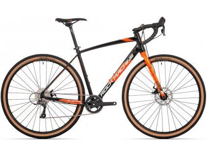 ROCK MACHINE GravelRide 200 gloss black/brick orange/silver, vel. M  PŘEDOBJEDNÁVKA