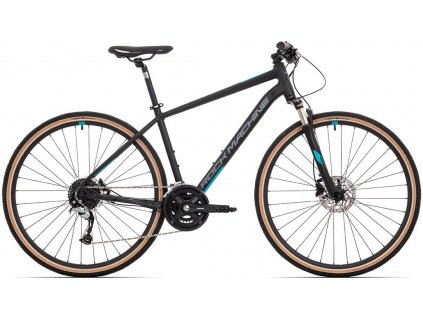 ROCK MACHINE CrossRide 700 mat black/dark grey/petrol blue, vel. L  PŘEDOBJEDNÁVKA