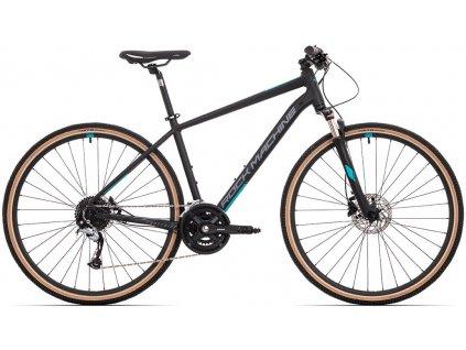 ROCK MACHINE CrossRide 700 mat black/dark grey/petrol blue, vel. XL