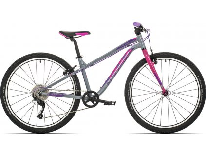 ROCK MACHINE Thunder 26 gloss grey/pink/Violet, vel. XS  PŘEDOBJEDNÁVKA