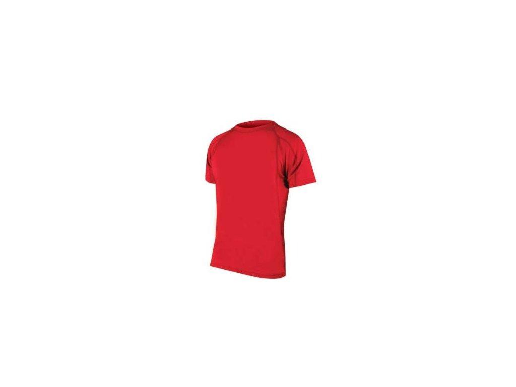 ENDURA BAABAA MERINO TRIKO KR 2014 (Barva červená, Velikost S)