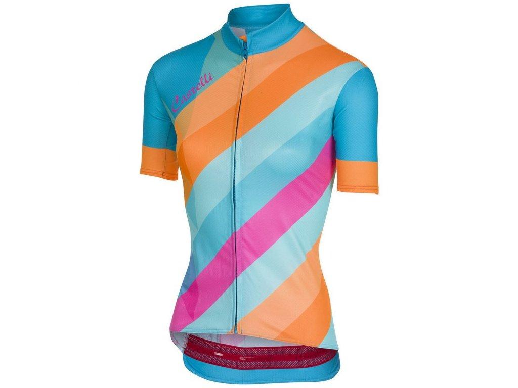 CASTELLI PRISMA JERSEY FZ (Barva multicolor, Velikost L)