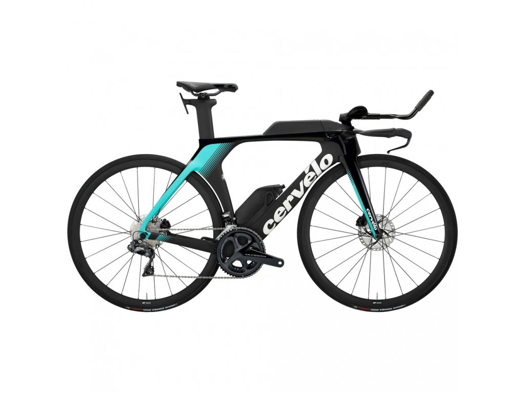 Cervelo P5 Ultegra Di2 Disc TT Triathlon Bike 2020 Black Teal White