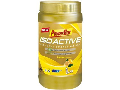 POWER BAR ISOACTIVE SPORT DRINK 600G (Barva citron)