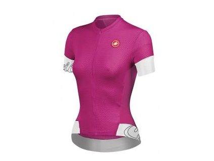 CASTELLI FORTUNA DRES W 2014 (Barva růžová/bílá/černá, Velikost XL)