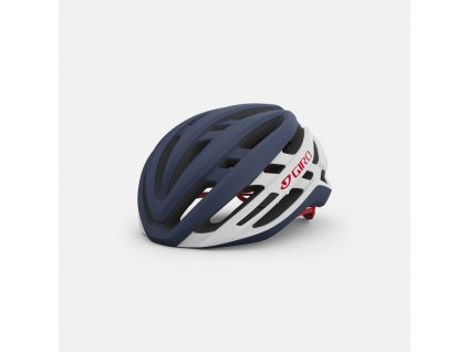 giro agilis mips road helmet matte portaro grey white red hero