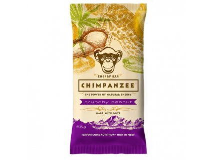 CHIMPANZEE ENERGY BAR (Barva crunchy peanut, Velikost 55g)