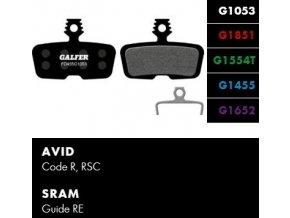 Galfer Avid code R, Sram code FD455